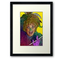 Phylis Diller by Culture Cloth Zinc Collection Framed Print