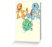 Starter Pokemon Splatter Greeting Card