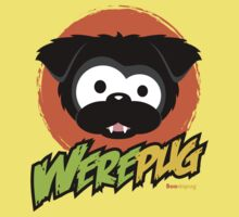 Black WerePug - White/Light Apparel & Stickers by boodapug