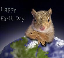 Happy Earth Day Squirrel by jkartlife