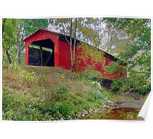 Little Red Covered Bridge Poster