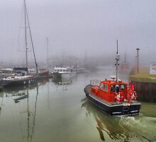 Foggy Lowestoft by Lilian Marshall