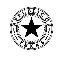 Texas 1836 | State Seal | SteezeFactory.com Photographic Print