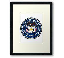 Utah   State Seal   SteezeFactory.com Framed Print