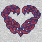 Celtic Heart - Red with Blue Trim by portiswood