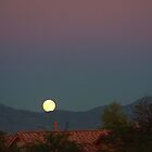Full Moon over Mountains by Norma  Ledesma