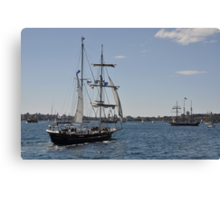 Tall Ships Departure, Fleet Review, Manly, Australia 2013 Canvas Print