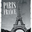 vintage eiffel tower black and white by sumners