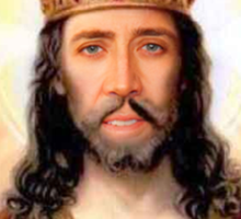 have you accepted Nicolas Cage as your lord and savior ? Sticker