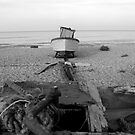 Dungeness B & W Boat by HelenVidler