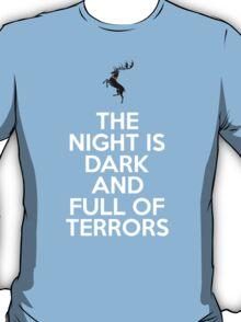 House Baratheon The Night Is Dark And Full Of Terrors T-Shirt