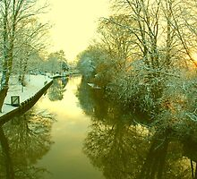 Winter River scene, Norwich, England by Joanna Rice