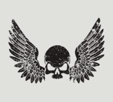 Skull and Wings Black by simonbreeze