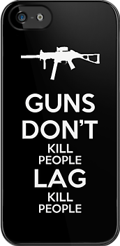 Guns Don't Kill People Lag Kill People by Royal Bros Art