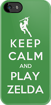 Keep Calm And Play Zelda by Royal Bros Art