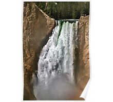 Yellowstone River At  The Lower Falls 2 Poster