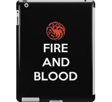 House Targaryen Fire And Blood iPad Case/Skin