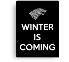 House Stark Winter Is Coming Canvas Print