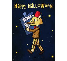 Halloween Doctor Who Card Photographic Print