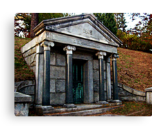 Rhinelander Mausoleum, Sleepy Hollow Cemetery Canvas Print