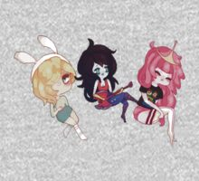 Fionna, Marceline, and Princess Bubblegum by abigailahn