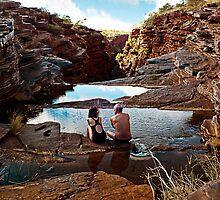 Couple at Joffre Falls by Julia Harwood