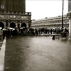 duckboards in piazza san marco by kchamula