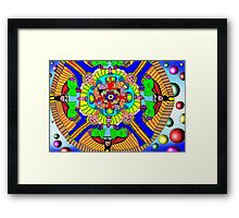 Mind map as a Mandala Framed Print