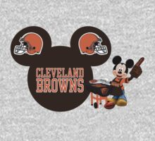 Cleveland Browns Mickey Mouse fan by sweetsisters