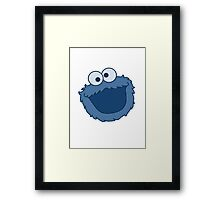 Cookie Monster T-shirt Sesame Street Framed Print