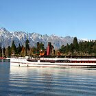 T.S.S Earnslaw in Queenstown - New Zealand by Nicola Barnard