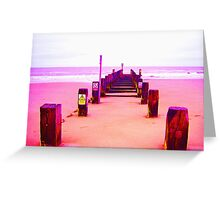 Out to Sea- Magenta Greeting Card