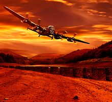 Lancaster Over Ouzelden by Nigel Hatton, Derwent Digital Imaging