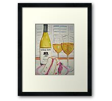 Layer cake wine and cake Framed Print