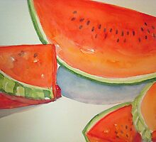 Watermelon Summer Treat by Loretta Barra