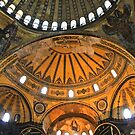 Domes of Hagia Sophia by Barbara  Brown