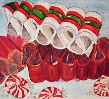 Ribbon Candy Red by Loretta Barra