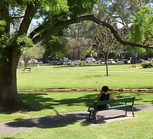 'I'M NEVER ALONE WITH MY MOBILE PHONE!' Veale Gardens Sth. Terrace, Adelaide. by Rita Blom