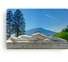 The Weeping Woman (Macedon Cemetery) Canvas Print