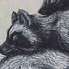 Brooklyn - Detail in street art by ROA by Maureen Keogh