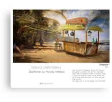 """Denpasar"" in words & image (M.Konecka) Canvas Print"