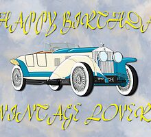 Happy Birthday - Vintage Lover by Dennis Melling