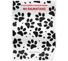 No229 My 101 Dalmatians minimal movie poster Poster