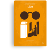 No239 My LEON minimal movie poster Canvas Print