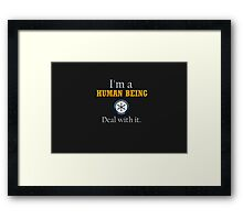Deal with it: Community Framed Print