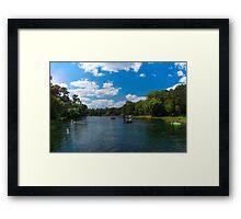 River Play Framed Print
