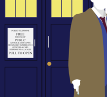 Ten and the TARDIS Sticker
