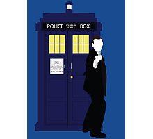 Nine and the TARDIS Photographic Print