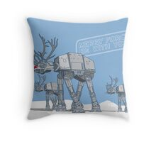 Merry Force Be With You Throw Pillow