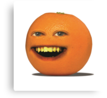 The Annoying Orange! Canvas Print